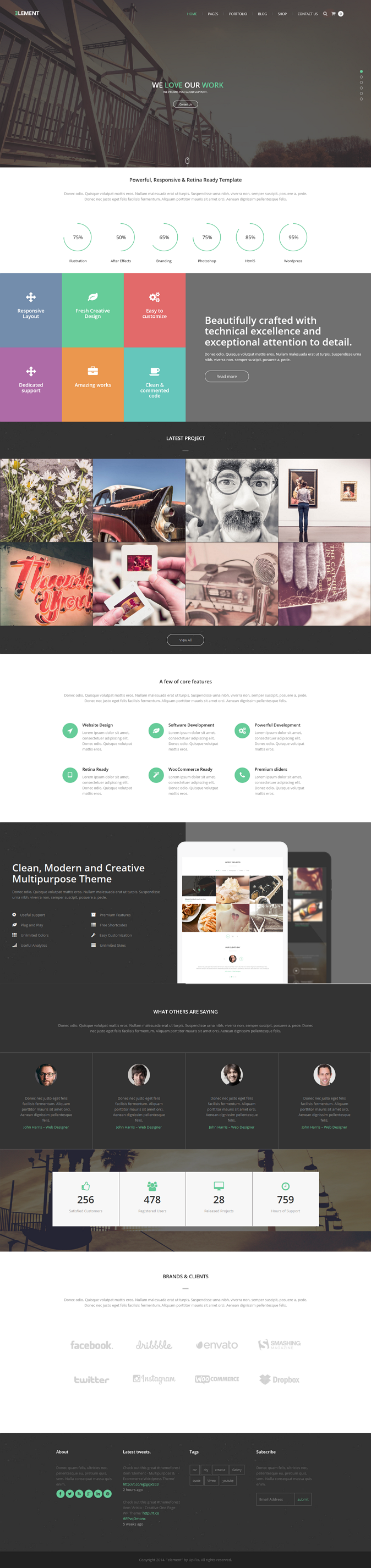 Element is clean Multipurpose WP Theme and eCommerce theme. It is great, professional and easy t ...