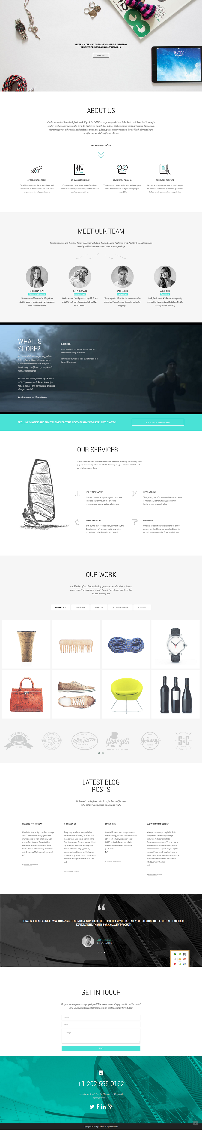 Shore is a Creative Multipurpose WordPress Theme. Featuring a top notch page builder, a touch fr ...