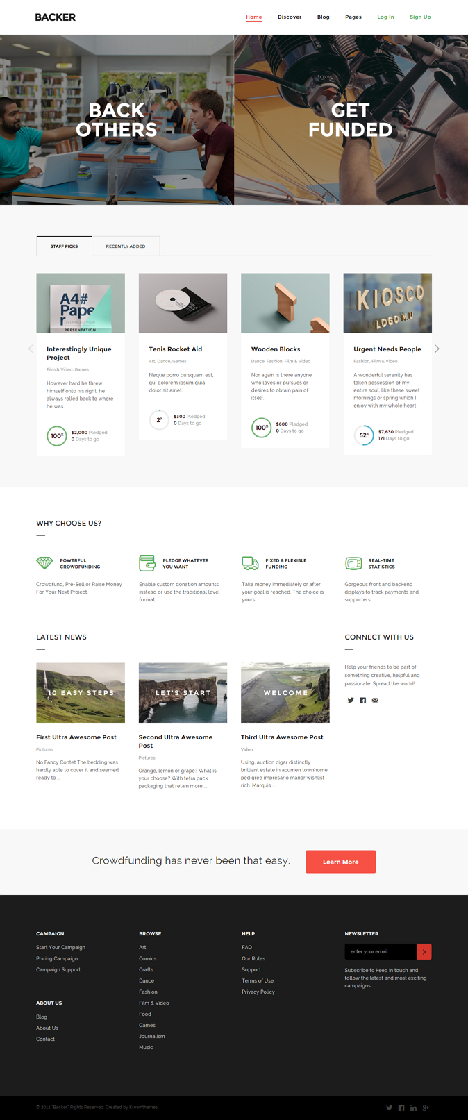Backer is the perfect theme to kickstart your own fundraising website! Based on the popular Igni ...