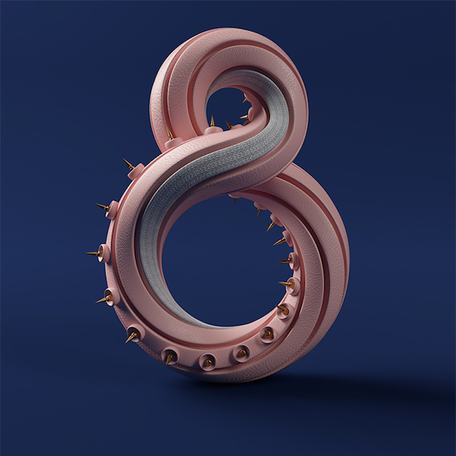 3D Typography Numbers