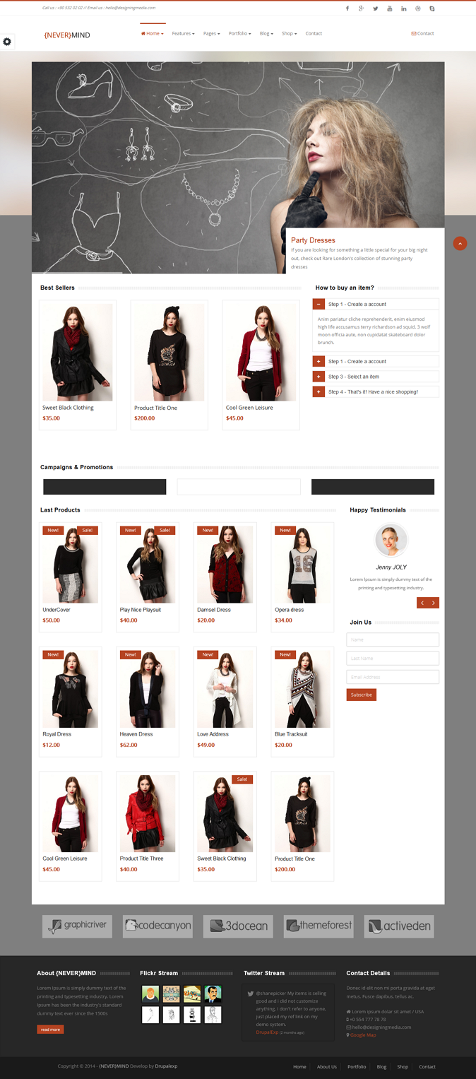 Nevermind is a brand new responsive Drupal theme. It's fresh & modern look with friendly fea ...