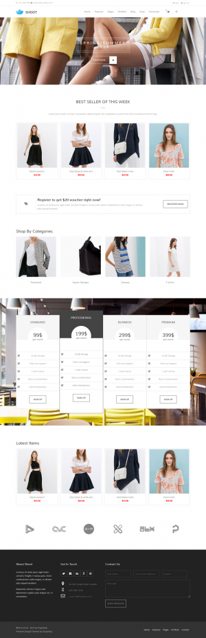 Shoot is a multipurpose Drupal theme responds to the most demanding customers for any eCommerce, ...