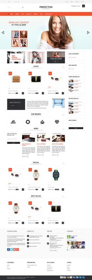 Perfectum is an premium Responsive PrestaShop theme with powerful admin panel, multiple layouts, ...