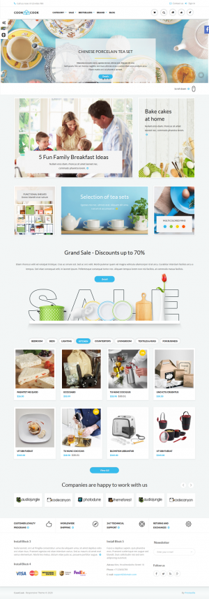 CoonCook is an universal theme for online store, can be used to sell a wide range of goods.Li ...