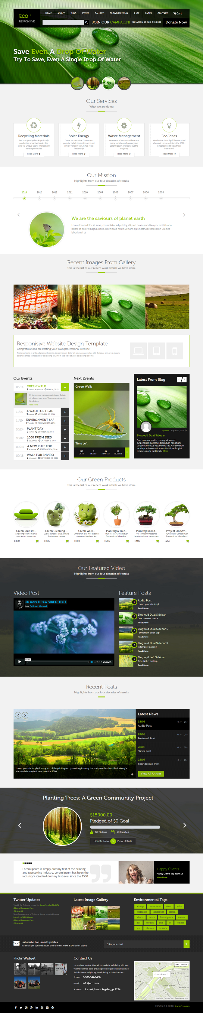 ECO Responsive Environment WordPress Theme is a modern theme based on latest design trends in in ...