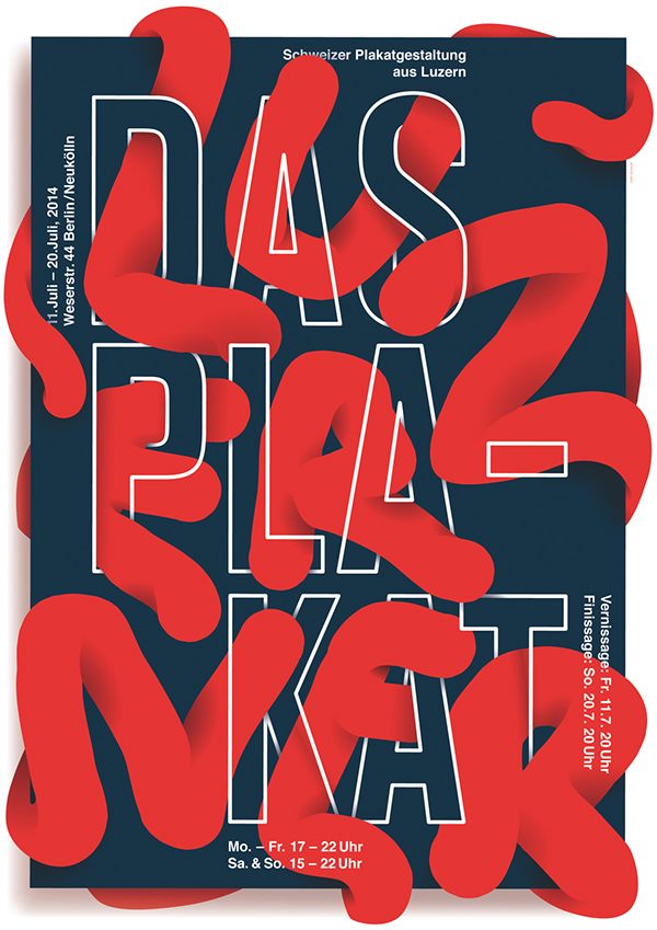 Typography Poster – Das Luzeren Plakat