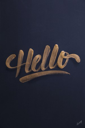 Golden lettering / collection '13