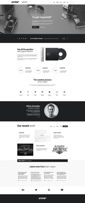 HYPNO is a clean and unique HTML5 template, fully responsive, easily customizable, based on popu ...