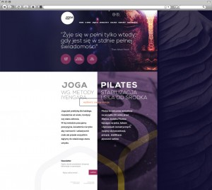 School of Yoga  – modern webdesign