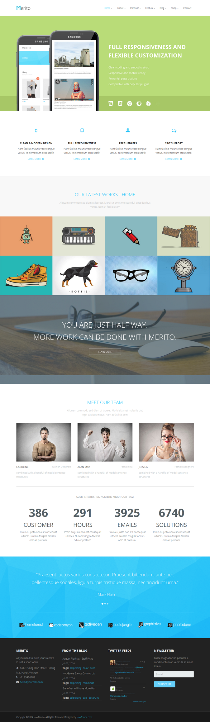 Merito is an multipurpose Joomla Template with clean and flexible design. The template is availa ...
