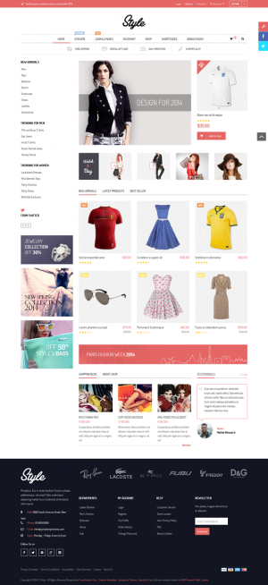 This eye-catching template is the best for fashion stores or any kind of shopping cart websites.