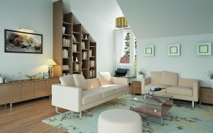 Khoi Classic Living Room Idea With Teal And Beige