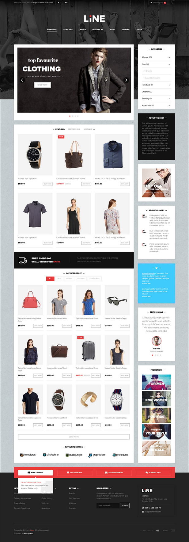 Pts Line is a Responsive Prestashop 1.6 Template suitable for Hightech products Shop, Computer S ...