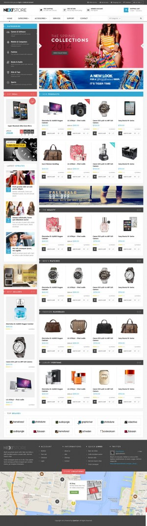 Venus Next Store is a Responsive Magento Template suitable for any kind of Fashion Shop, Hightec ...