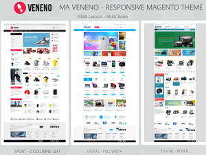 Veneno is Magento Theme that will be a great solution for online Sport shop, fashion store, acce ...