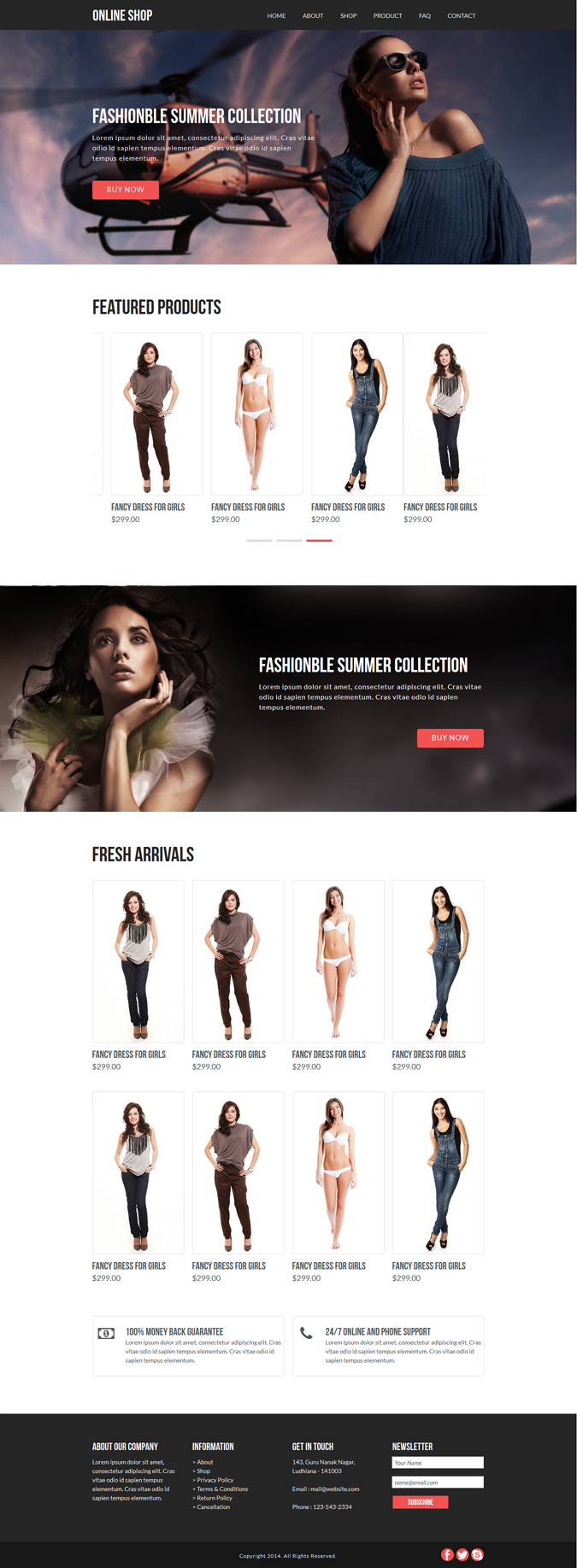 Online Shop eCommerce Muse Template