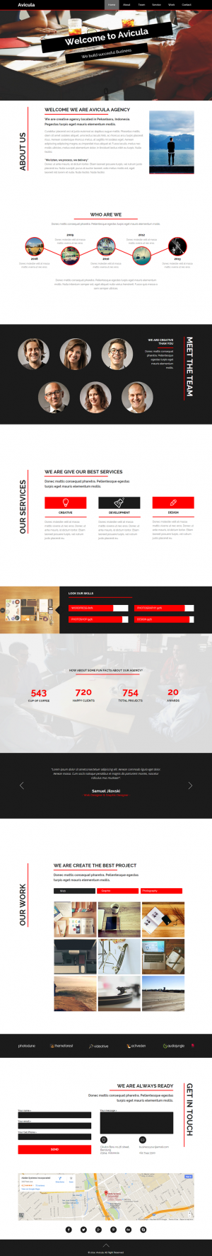 Avicula muse template in design with simple, clean and easy to edit, customizable without writin ...