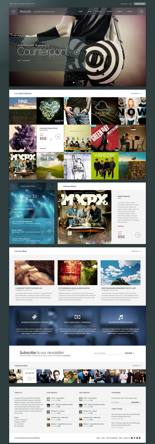 Angkloong is a multipurpose theme specially designed for bands and musicians and comes with comp ...