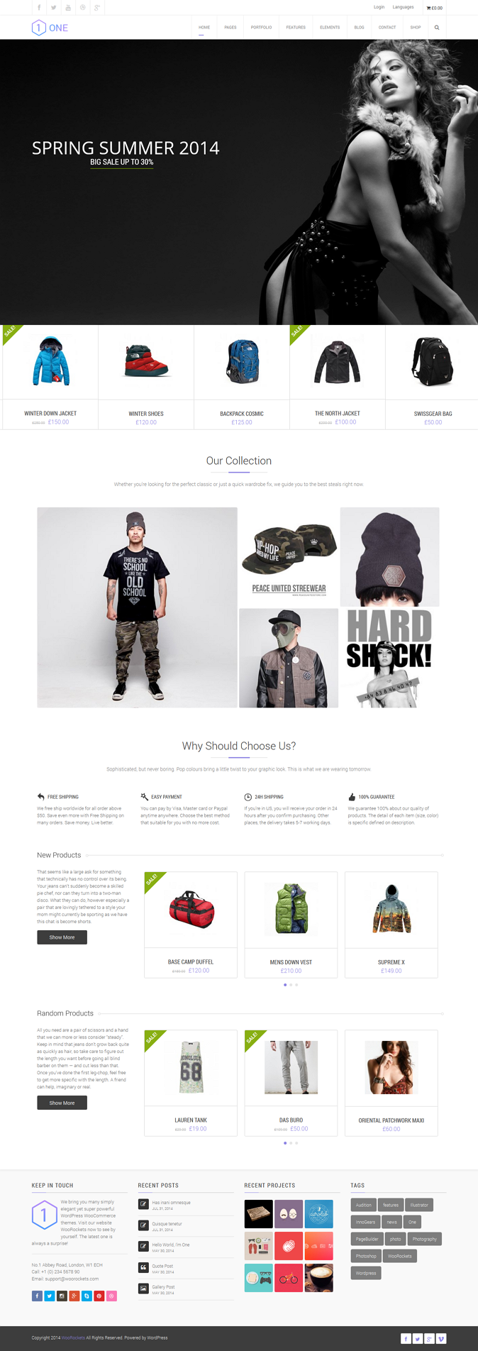 ONE is a unique theme, specially designed for eCommerce purposes, powered by WooCommerce and Wor ...
