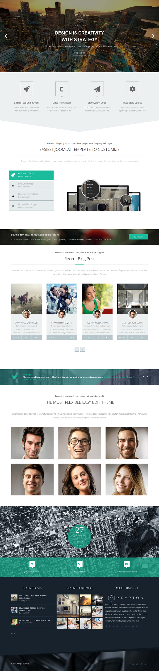 Krypton is a fully responsive Joomla Template suitable for any kind of creative or business use. ...