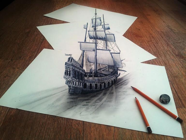3D Pencil Drawing