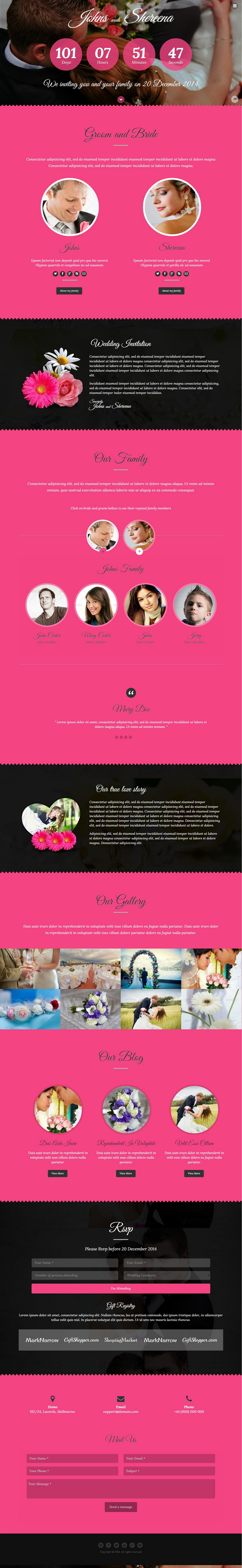 """Lantern"" is a responsive, one-page parallax HTML5 & CSS3 Wedding Template. It is based on T ..."
