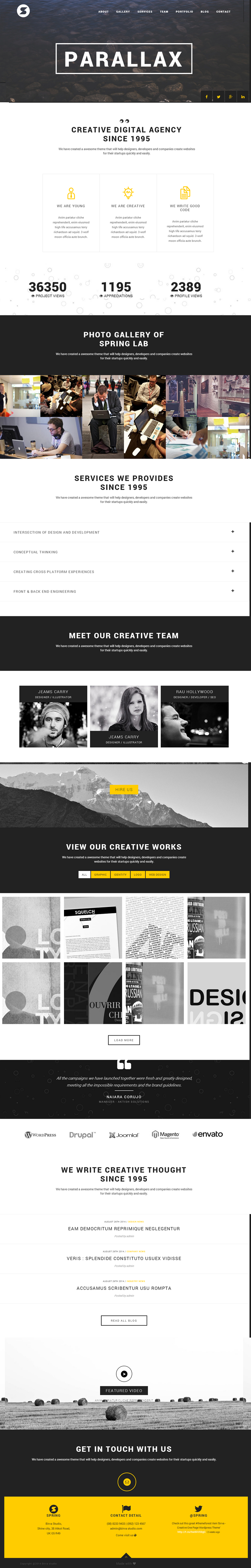 Spring is an creative one page WordPress Theme. This theme is simple, clean and elegant one page ...