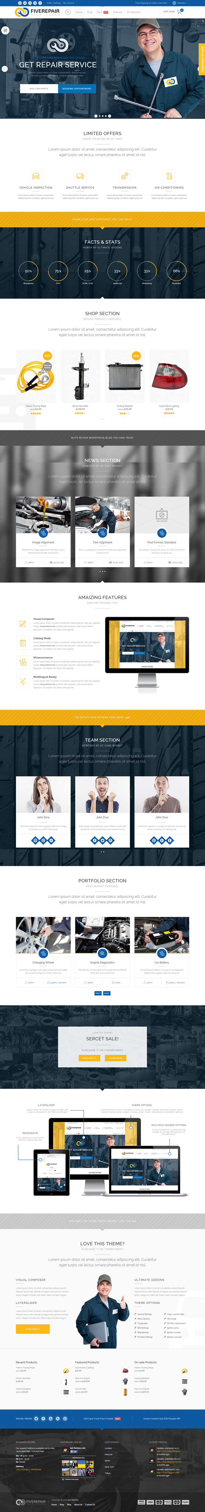 456Repair is an responsive eCommerce WordPress Theme. This theme is perfect for mechanic worksho ...