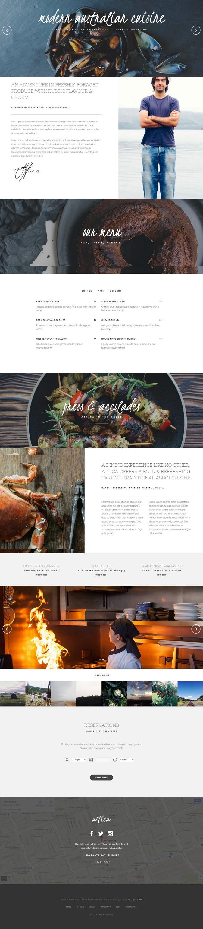 Attica is an One-page Restaurant Joomla Template. It has all the features your restaurant needs  ...