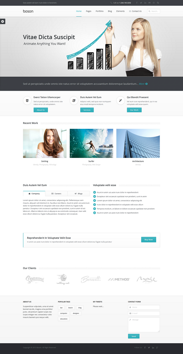 Boson is a professional multipurpose #WordPress Theme with Drag and Drop Page Builder. You can u ...