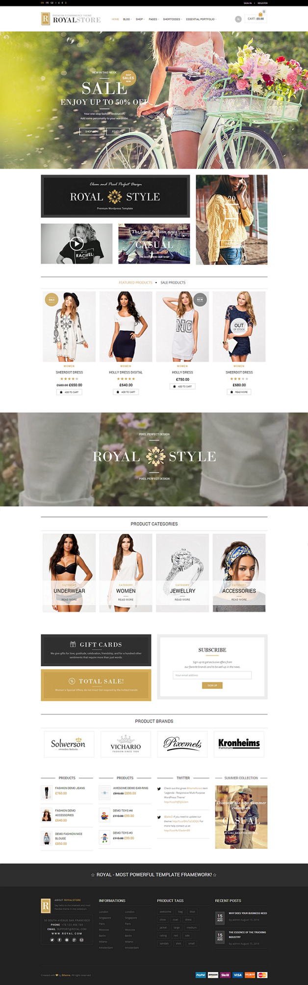 RoyalEngine is a professional, easy to use WordPress template . Clean and creative design gives  ...