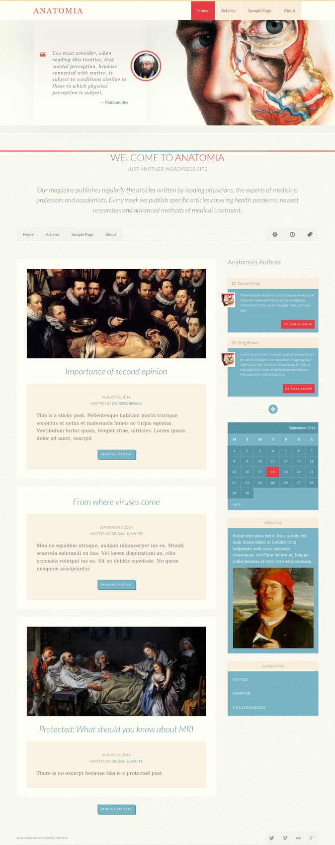 Anatomia Simple Blog Or Magazine WP Theme