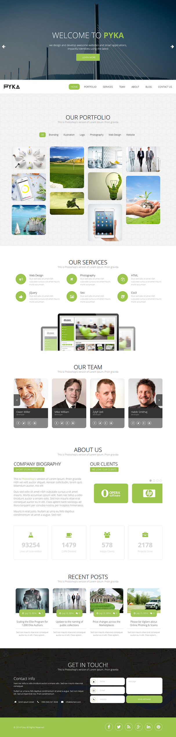 Pyka is an new one page responsive WordPress Theme. It has a live theme customizer, powerful adm ...