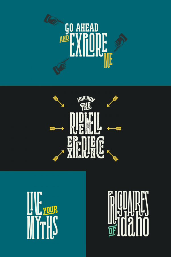 The Ridewell Typeface by Kostas Bartsokas