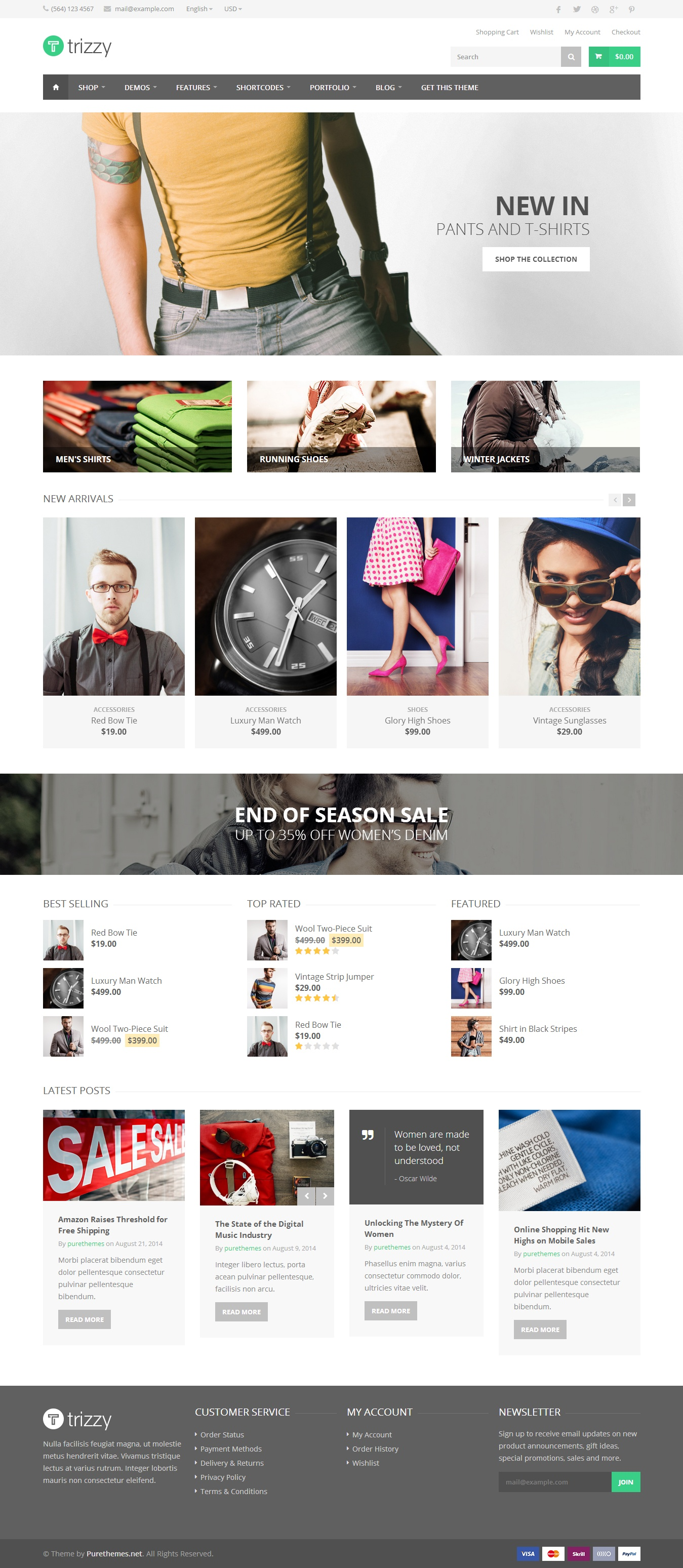 Trizzy is a powerful multipurpose responsive WooCommerce Theme, excellent compromise among the c ...