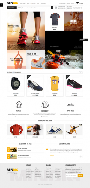 This theme has 14 demo layouts ready to use for Shop, Corporate, Portfolio and One Page website.
