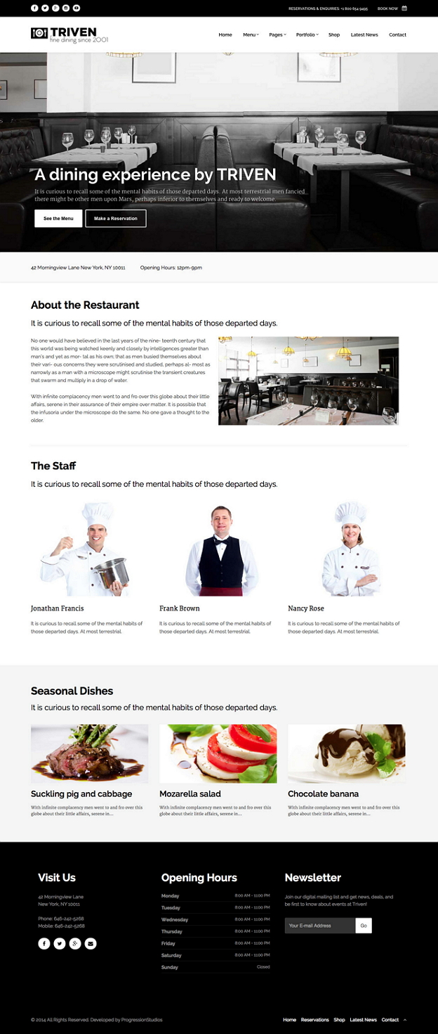 Show off your work with this easy-to-customize and fully featured Restaurant and Winery WordPres ...