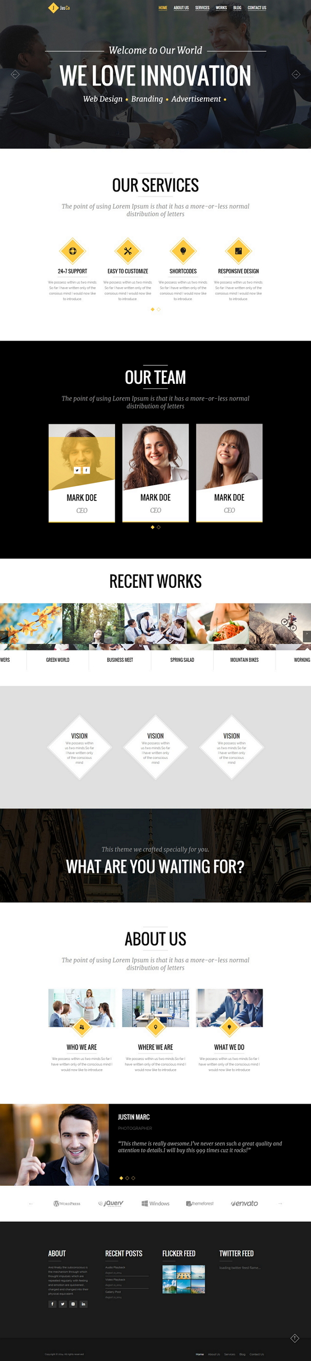 JASCO is an creative multipurpose Multi-Page WordPress Theme with very clean and modern designed ...
