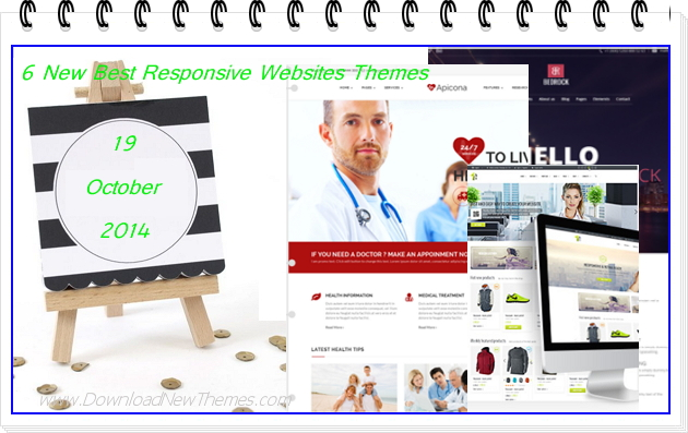 6 New Best Responsive Websites Themes (19th Oct 2014)