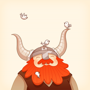 Happy Viking by Anneka Tran
