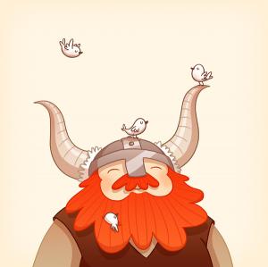 Happy Viking by Anneka Tran