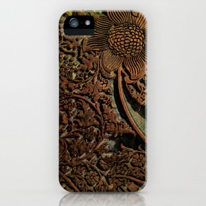Antique William Morris Arts & Crafts era Wood Carving, wood block  iPhone & iPod Case