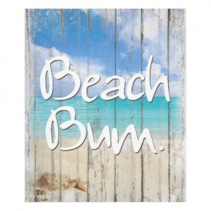 Beach Bum ~ Coastal life, beach fleece blanket throw