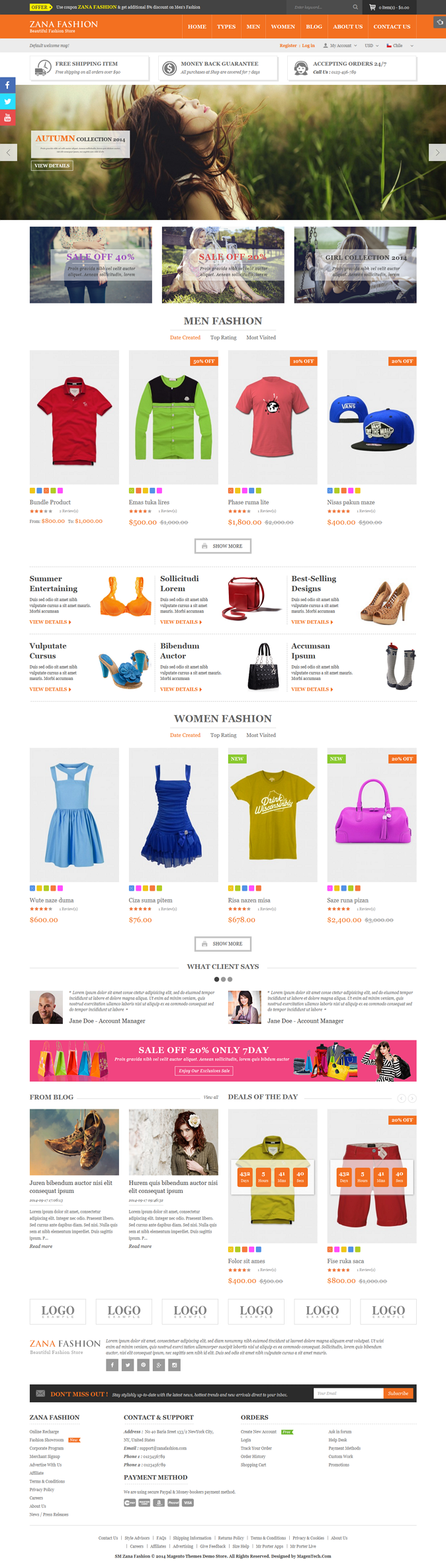 Zana Premium Responsive Magento Fashion Theme