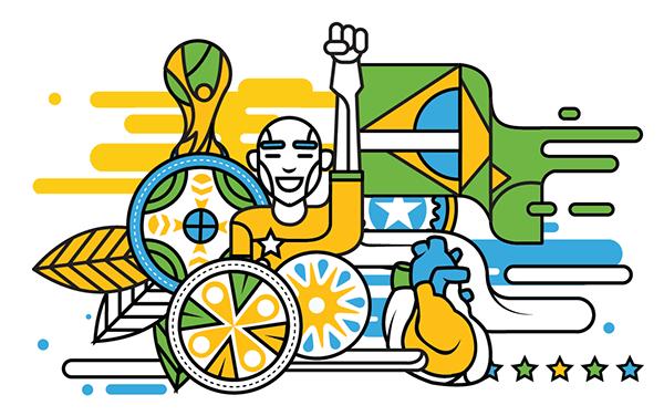 Brazil 2014 Embraer on Illustration Served