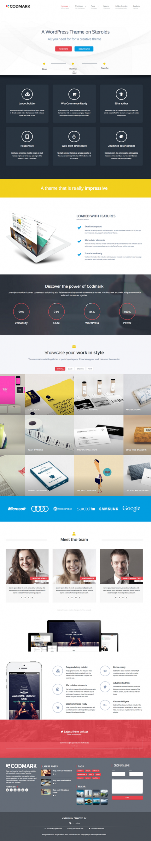 Codmark Creative Multipurpose WP Bootstrap Theme