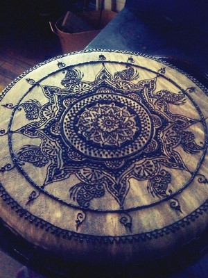 Henna drum by Red Lotus Designs Lexington
