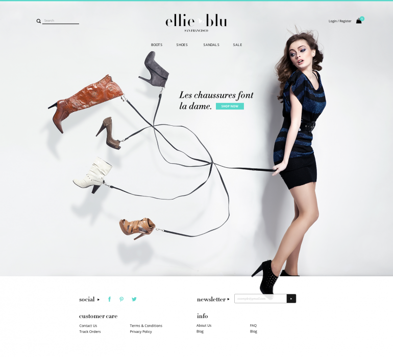 Ellie Blu Homepage