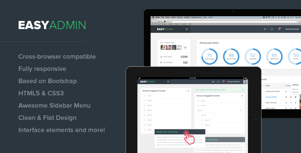 Admin Template with flat and unique design build for your next project. Professional designed wi ...