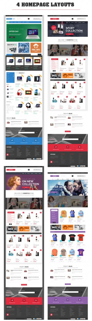 With new and strange style design, Veyron is a great multipurpose Magento Theme for selling fash ...